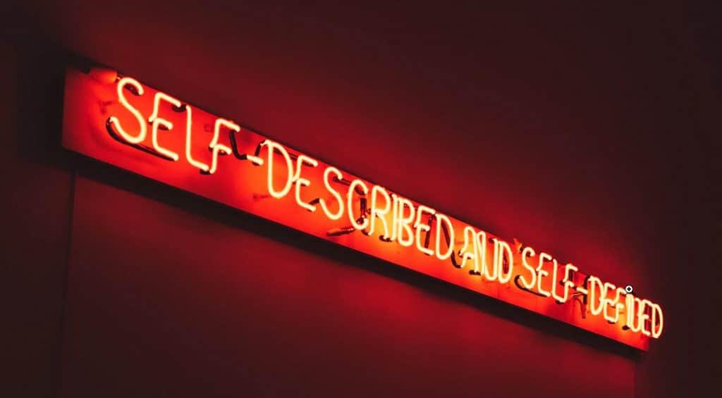 Self-described and self-defined self-esteem.