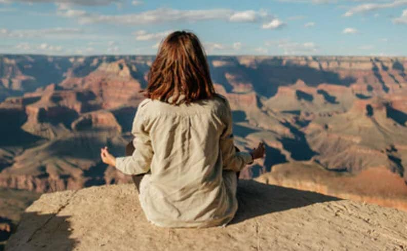 An  introspection journey examines thoughts and feelings through meditation.