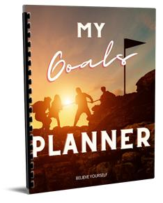 My goals planner helps set and track goals.
